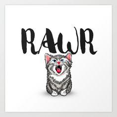 Little Pal, Big Roar Art Print by Camila Escat