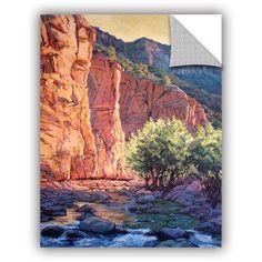 ArtAppealz Rick Kersten The West Fork Removable Wall Art, Size: 18 x 24, Orange