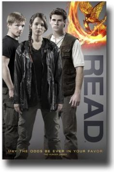 Celebrity READ Poster - Hunger Games Cast (which is hanging in the YA area of the library!)