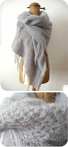 """Ravelry: 86-9 Shawl in """"Vienna"""" pattern by DROPS design"""