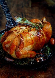 Apple Sausage Stuffing Roasted Chicken