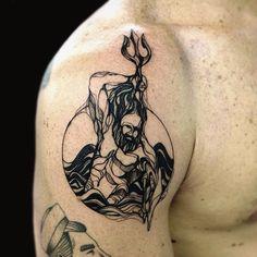 Poseidon. Muito obrigado Rodrigo! @furtini #tattoo #tattooed #poseidon…