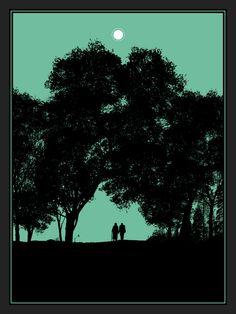 Dan Mcarthy Poster, viewed at Night