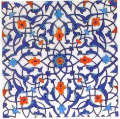 Tiles - 16th Century Iznik Tile Detail, Rustem Pasa Mosque, Istanbul - Custom Wallpaper