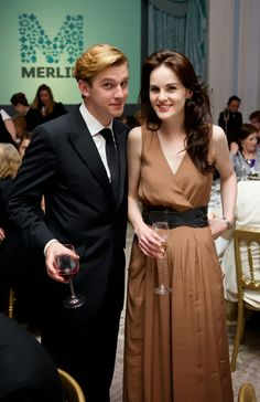 Michelle Dockery talks about Dan Stevens