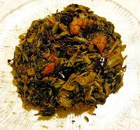 Rummana's Kitchen: Shorshe Shak Bhaji (Mustard Green Leaf Mix)