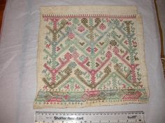 Textile in the V's Study Collection. Museum no. 8304-1863. Towel, German (1400-1499), linen & silk??
