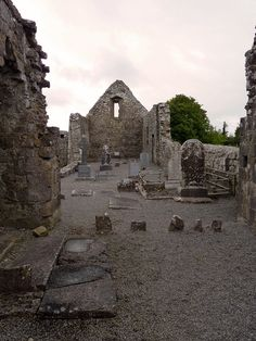 Annaghdown church ruins, Annaghdown, Galway, Ireland
