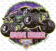 Monster Jam Birthday - Edible Cake and Cupcake Topper For Birthday's and Parties! - D128 on Etsy, $6.98