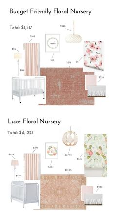 I don't know about you but I am seriously swooning over the all of the floral nurseries that have been taking for Pinterest and instagram, especially Monica Hibb's stunning nursery for her baby girl. I love the way we decorated Ava's nursery BUT if we have another girl in the future I would be seriously tempted to go all out floral. Pretty sure my husband wouldn't be down with floral wallpaper in our master bedroom so a nursery might be my only chance at making my floral dreams come true.
