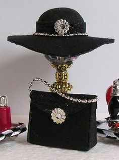 1:12 Scale Black Miniature Hat by Greatminis on Etsy