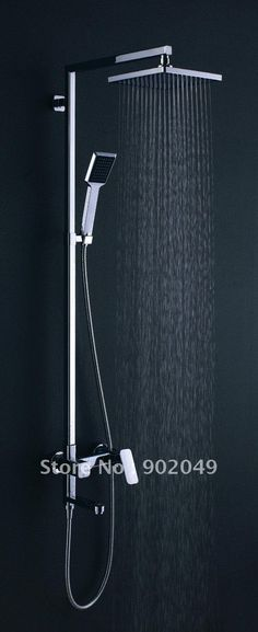 shower fixtures | Wall-Mounted-Bath-Shower-And-Faucets-Rain-Shower-Hot-And-Cold-Water ...