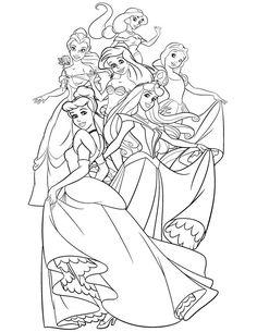 42 Princess Coloring Pages Ideas Princess Coloring Pages Princess Coloring Coloring Pages