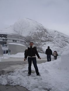 Mount Pilatus. Lucerne Switzerland- We had a snow ball fight in May!