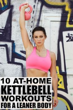collection of at home kettlebell workouts is for you! Working out with kettlebells allows you to exercise multiple muscle groups at the same time, and the act of swinging kettlebells burns a ton of calories, which makes it one of the most effective full-body conditioning workouts I've ever experienced. I'm serious!
