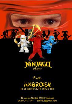 Ninjago Party invitations
