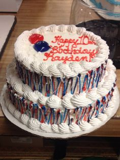 Dq cake 2 tiers