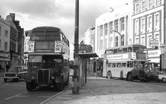 Deptford in the 1970s - two buses
