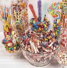 It's easy to create a budget-friendly candy buffet with candy assortments.