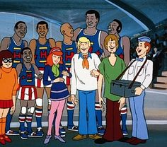Scooby Doo - especially if the Harlem Globetrotters were making a guest appearance!