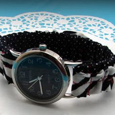 If you are in need of a cool and stylish watch idea, then this free DIY jewelry tutorial on Wonderful Watch Making Ideas is just for you. This tutorial teaches you how to make a watch using beads, fabric, and even using excess chain.