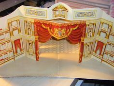 Pop-up toy theater extra that came with a double LP Vinyl Album Record Set back in 1985 re: artist of Dresden State Opera in historical recordings from 1908 to 1944, a special production to mark the reopening of the Semper Opera House on February 13, 1985