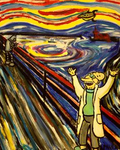 "#Futurama + #TheScream (by Munch) = ""Good news"" by PaulaMould #crossover"