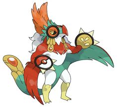 Mega Hawlucha Fighting / Flying *Based on Aztec Eagle Warriors Source. Artist: pokeluka