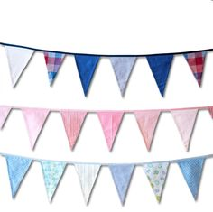 Vimpelrekke: 245,- Maritim, rosa eller lyseblå Symbols, Letters, Art, Pink, Craft Art, Icons, Kunst, Letter, Art Education