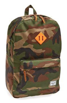 camo backpack.