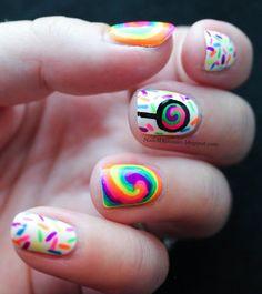 Nails4Dummies - Candy Swirls  #nail #nails #nailart