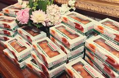 Doughnuts as guest favors!  Neat idea!  I didn't even know they packaged just two.  Yum!