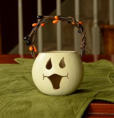 Meadowbrooke Gourds Party Treat-Ghost Basket