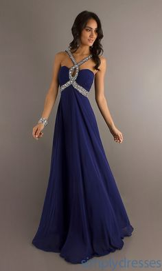 Long Dark Blue Prom Dresses