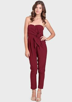 $48 Burgundy Jumpsuit | New Years Eve Party Look | NYE | Outfit Inspiration | #sidesmileshops