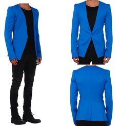 Anniversary Blue Blazer Outfit, Blazer Outfits, Gq Fashion, Fashion Lookbook, Mens Dress Jackets, Royal Blue Blazers, Gareth Pugh, My Style, Anniversary