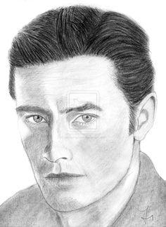 Drawing Alian Delon by carlosirigoyen.deviantart.com on @deviantART