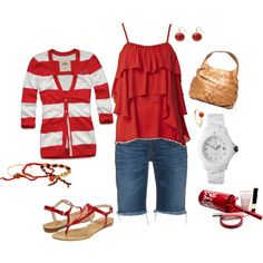 Red & White summer, created by mkimlin.polyvore.com