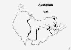 A funny map of Australia