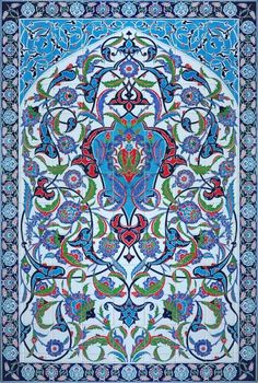 Mehmet Koçer Turkish Tiles, Turkish Art, Tile Art, Mosaic Tiles, Tiling, Arabic Art, Iron Work, Style Tile, 3d Max
