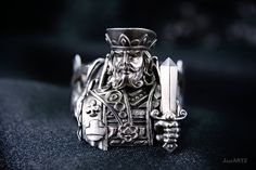 The King a deck of cards. Silver925 Ring. by justARTz on Etsy