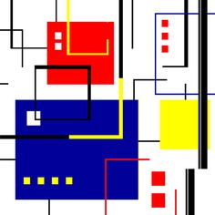 Mondrian Redux by Tara Hutton.Mondrian Redux is another in my series of De Stijl inspired artwork. For this piece I intentionally kept the background clean and white to accentuate to bold primary colors. #MondrianRedux #TaraHutton #DeStijl #PrimaryColors #Mondrian #ArtPrint #FineArtAmerica #Pixels.com