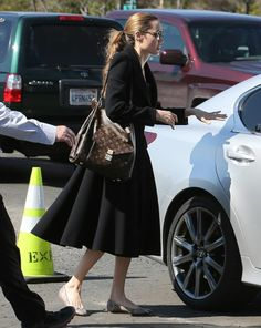 Angelina Jolie with her LV Metis