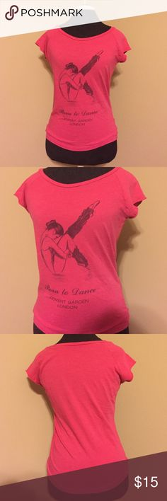 Pink Tee Shirt with a ballet dancer This Tee is great for wearing casually or using as a warm up for ballet class. I got it in Covent Garden in London. It's 18 inches from armpit to armpit when lain flat Tops Tees - Short Sleeve