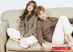 """Jung Kyung Ho and Baek Jin Hee are featured in the January issue of Cosmo to discuss their currently airing drama """"Missing and the relationship that develops between their characters… Missing Nine, Baek Jin Hee, Korean Drama Movies, Cosmopolitan, Couple Goals, Kdrama, Eye Candy, Actors, Photo And Video"""