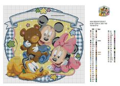 Disney Cross Stitch Patterns, Hand Embroidery Tutorial, Minnie Mouse, Snoopy, Teddy Bear, Kids Rugs, Comics, Crafts, Animals