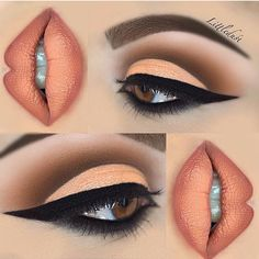 eye makeup do eye makeup cause glaucoma makeup set makeup tutorial for beginners makeup like mila kunis makeup items eye with makeup makeup styles Makeup Eye Looks, Beautiful Eye Makeup, Cute Makeup, Glam Makeup, Skin Makeup, Makeup Inspo, Eyeshadow Makeup, Beauty Makeup, Peach Makeup