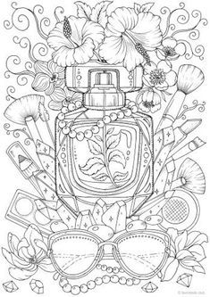 Spring Coloring Pages, Tree Coloring Page, Printable Adult Coloring Pages, Coloring Pages For Girls, Coloring Pages To Print, Colouring Pages, Coloring Sheets, Coloring Books, Detailed Coloring Pages