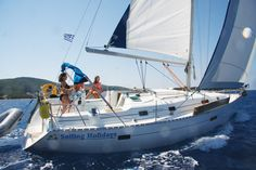Some racy sailing passed Meganisi!