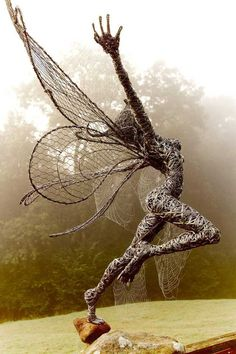 These Fantasy Wire Sculptures By Robin Wight Are From a Fairy World : fantasy wi. These Fantasy Wire Sculptures By Robin Wight Are From a Fairy World : fantasy wire sculptures by robin wight 11 Robin Wight, Metal Tree Wall Art, Scrap Metal Art, Wire Wall Art, Metal Artwork, Alberto Giacometti, Wire Art Sculpture, Wire Sculptures, Sculpture Ideas